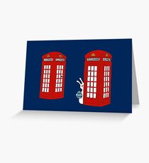 London Telephone Box and A Bunny Greeting Card