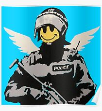 Soldier Smiley - Banksy Poster