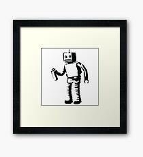 Banksy Robot Framed Print