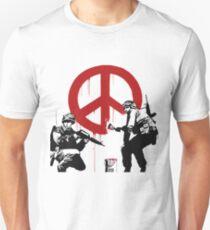 Banksy - Peace Graffiti Unisex T-Shirt