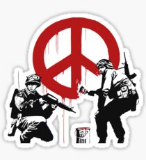 Banksy - Peace Graffiti Sticker