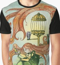 Bag Lady and the Birds Graphic T-Shirt