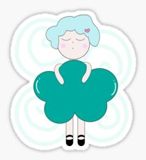 Cloudy girl. Sticker