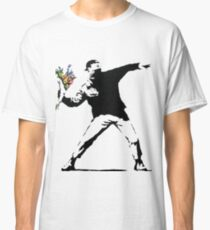Banksy - Throwing Flowers Classic T-Shirt