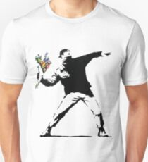 Banksy - Throwing Flowers Unisex T-Shirt