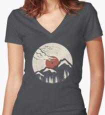 MTN LP... Fitted V-Neck T-Shirt
