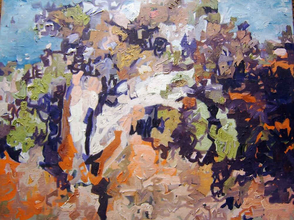 juniper landscape oil painting by rembrandt