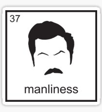 The Element of  Manliness Sticker