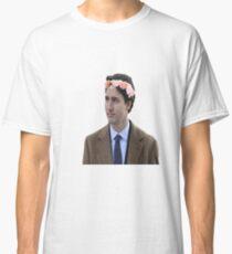 Justin Trudeau Flower Crown 2 Classic T-Shirt