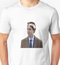 Justin Trudeau Flower Crown 2 Unisex T-Shirt