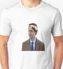 Justin Trudeau Flower Crown 2 Unisex T-Shirt