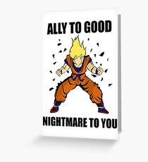 Goku powerup Greeting Card