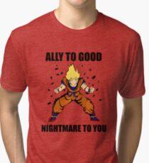 Goku powerup Tri-blend T-Shirt