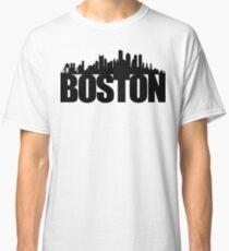 Boston Skyline - black Classic T-Shirt