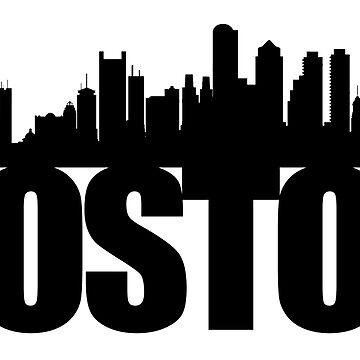 Boston Skyline - black by ianscott76