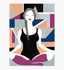 Yoga girl Photographic Print
