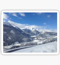 Austrian Snowy Mountains Sticker