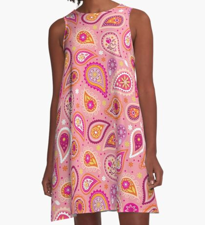 Colorful summer paisleys A-Line Dress