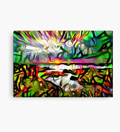 Abstract shore Canvas Print
