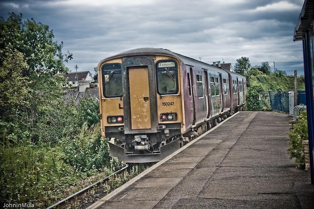 The train leaving by Johninmula
