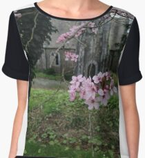 Spring blossom Irish church Chiffon Top