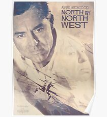 Hitchcock, Fine Art, Poster, North By Northwest, classic film, old, movie, hollywood Poster