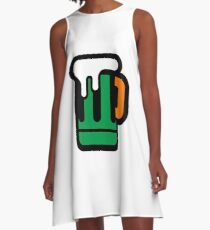 Green Beer - Irish Colors A-Line Dress