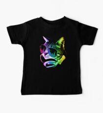 Rainbow Music Cat Baby Tee