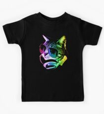 Rainbow Music Cat Kids Tee