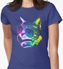 Rainbow Music Cat T-Shirt