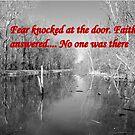 Faith at the door by Valeria Lee