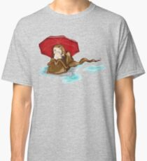 Bag Lady With Umbrella Classic T-Shirt