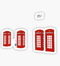 Easter bunny and telephone boxes Sticker