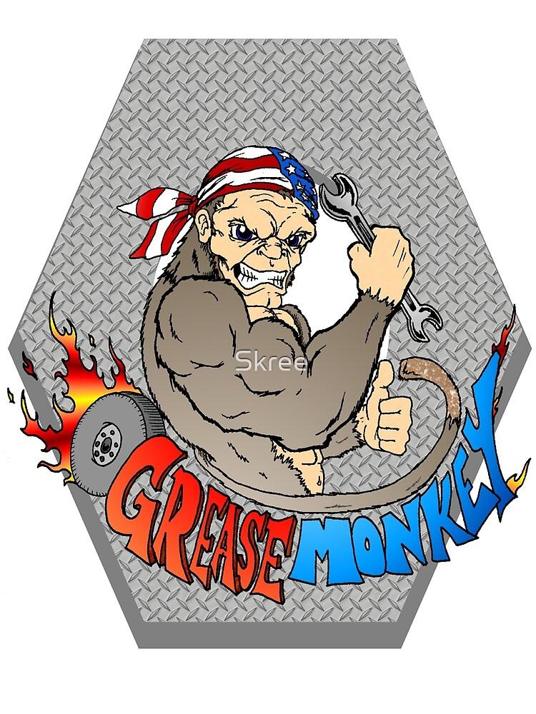 Grease Monkey Logo by Skree