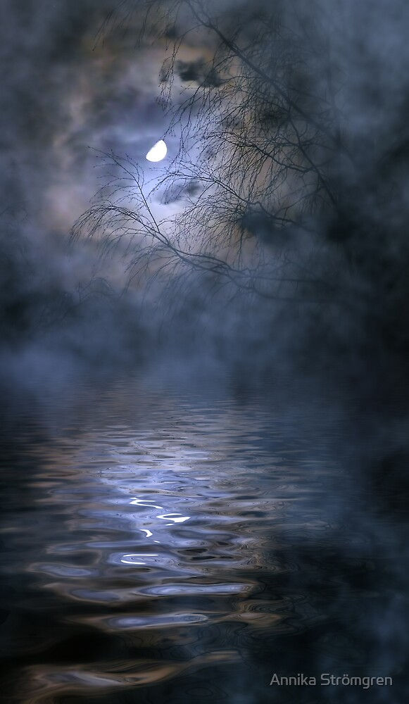 Misty moon by Annika Strömgren