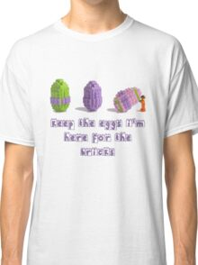 Keep the Eggs I'm here for the Bricks TShirt Easter Themed LEGO Shirt Classic T-Shirt