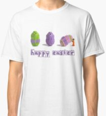 Easter Egg and Minifigure T-shirt Easter Themed LEGO Tee Classic T-Shirt