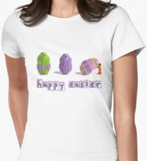 Easter Egg and Minifigure T-shirt Easter Themed LEGO Tee Women's Fitted T-Shirt