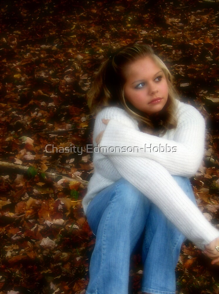 Jana and the leaves by Chasity Edmonson-Hobbs