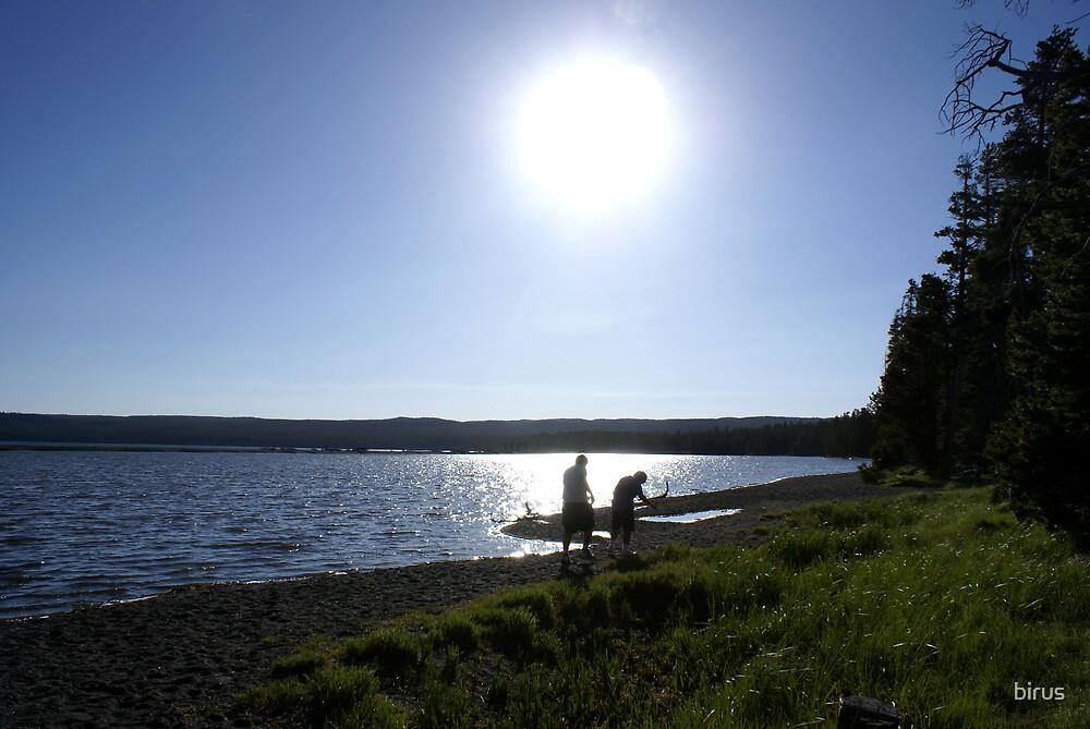 yellowstone lake by birus
