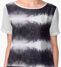 Abstract Reptile Effect Stripe Print Chiffon Top