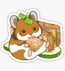 Sandwich and Hamster Sticker