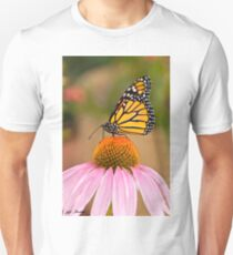 Monarch Butterfly on a Purple Coneflower T-Shirt