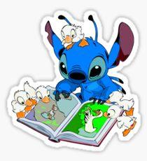 Stitch reading book Sticker