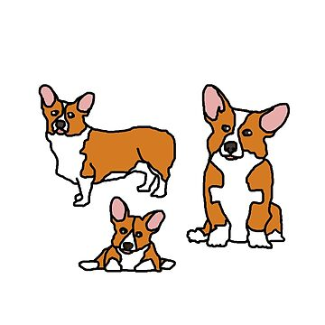 Trio of Corgis by djalicat