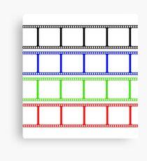 Film Stripe Colors Canvas Print
