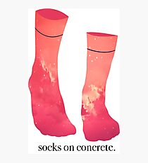 Socks on Concrete Photographic Print