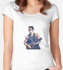 Camiseta entallada de cuello redondo John Mayer mirando 10/10 sería bang