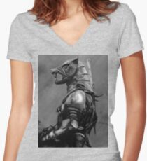 Hound of War Women's Fitted V-Neck T-Shirt
