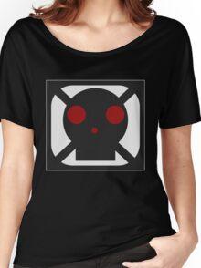Black Skull Square Symbol Women's Relaxed Fit T-Shirt